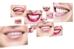 Collage della gente sorridente in buona salute Immagini Stock