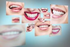 Collage della gente sorridente in buona salute Fotografie Stock