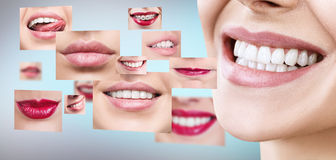 Collage della gente sorridente in buona salute Fotografia Stock Libera da Diritti