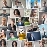 Collage della gente in varie espressioni fotografia stock libera da diritti