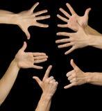 Collage della mano. Fotografia Stock