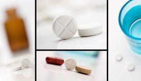 Collage della medicina Fotografia Stock
