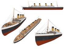 Collage della nave isolata illustrazione vettoriale