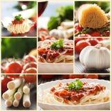 Collage della pasta Fotografia Stock