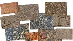 Collage della pietra di strutture Fotografia Stock