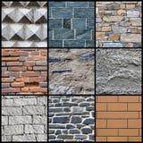 Collage della priorità bassa della parete Fotografie Stock Libere da Diritti