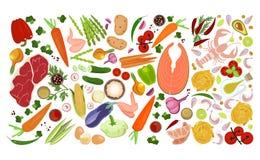 Collage della raccolta dell'alimento Immagine Stock Libera da Diritti