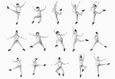 Collage della ragazza di dancing Immagine Stock