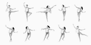 Collage della ragazza di dancing Fotografie Stock Libere da Diritti