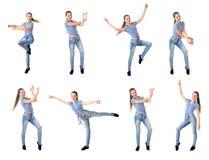 Collage della ragazza di dancing Fotografia Stock