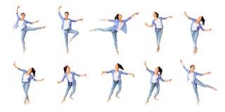 Collage della ragazza di dancing Immagini Stock