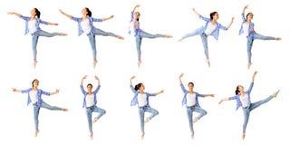Collage della ragazza di dancing Fotografia Stock Libera da Diritti