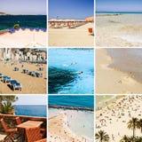Collage della spiaggia & del mare Fotografia Stock Libera da Diritti