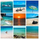 Collage della spiaggia e del mare Fotografia Stock Libera da Diritti