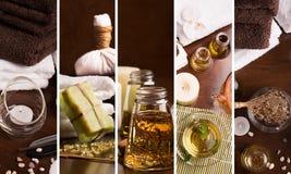 Collage della stazione termale fotografia stock libera da diritti