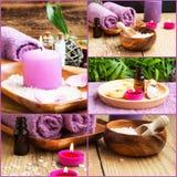 Collage della stazione termale Fotografie Stock