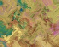 Collage della tela Macchia delle pitture acriliche Fondo dipinto a mano astratto creativo Colpi di verniciatura acrilica su tela  illustrazione di stock