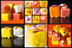 Collage della torta Fotografia Stock Libera da Diritti