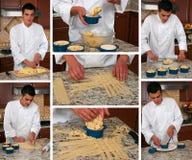 Collage della torta Fotografia Stock