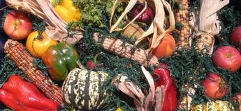 Collage della verdura e della frutta Fotografie Stock Libere da Diritti