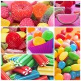 Collage delle caramelle Fotografia Stock Libera da Diritti