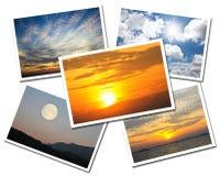 Collage delle cartoline del cielo Immagini Stock Libere da Diritti