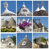 Collage delle case di trulli, Apulia, Italia Immagine Stock Libera da Diritti