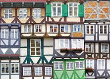 Collage delle case uniche antiche del fahverk. Fotografie Stock