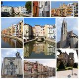 Collage delle città dell'Europa Fotografie Stock Libere da Diritti