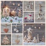 Collage delle decorazioni di natale fotografia stock