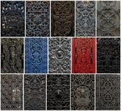 Collage delle finestre Immagini Stock