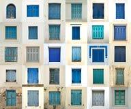 Collage delle finestre dalla Grecia Immagine Stock