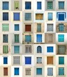 Collage delle finestre dalla Grecia Fotografia Stock Libera da Diritti