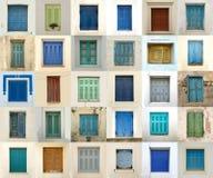 Collage delle finestre dalla Grecia Immagine Stock Libera da Diritti