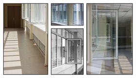 Collage delle finestre della costruzione Immagine Stock Libera da Diritti