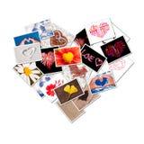Collage delle foto del cuore Fotografie Stock Libere da Diritti