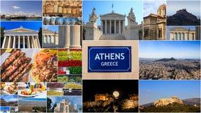 Collage delle foto della Grecia - di Atene Immagini Stock Libere da Diritti