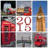 2015, collage delle foto di Londra Fotografie Stock Libere da Diritti