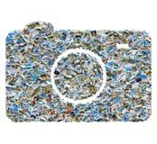 Collage delle foto di viaggio - macchina fotografica della foto del mosaico Immagine Stock