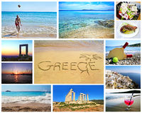 Collage delle foto greche di estate Fotografie Stock