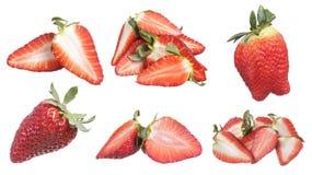 Collage delle fragole Fotografia Stock