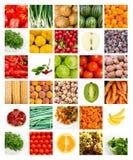 Collage delle frutta e delle verdure Fotografia Stock Libera da Diritti