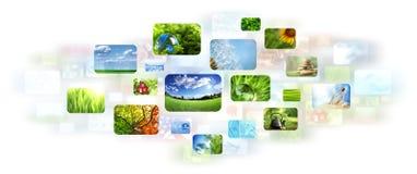 Collage delle immagini Fotografie Stock