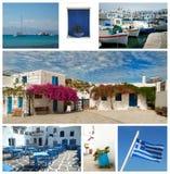 Collage delle immagini dalla Grecia Fotografie Stock Libere da Diritti