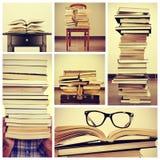 Collage delle immagini dei libri Fotografia Stock Libera da Diritti