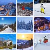 Collage delle immagini dell'Austria Immagini Stock