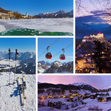 Collage delle immagini dell'Austria Fotografia Stock