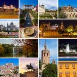 Collage delle immagini della Spagna Fotografia Stock