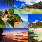 Collage delle immagini della spiaggia di estate Immagine Stock Libera da Diritti