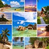 Collage delle immagini della spiaggia di estate Fotografia Stock Libera da Diritti